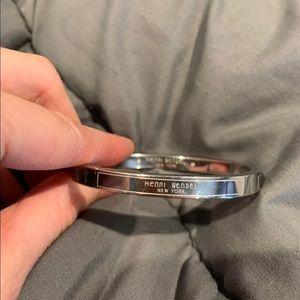 Petite silver bangle